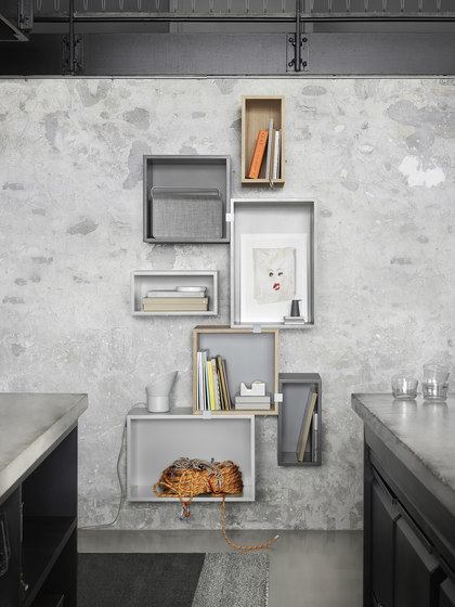 Stacked Shelf System - white* by Muuto