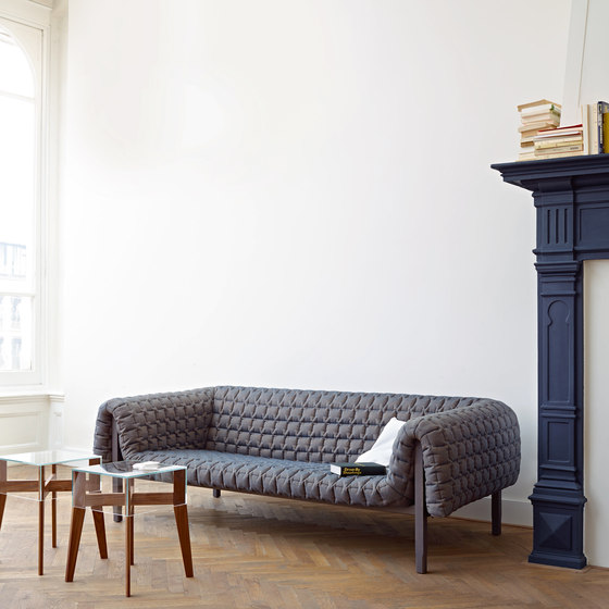 Ruché | 1-Armed Settee Right With Table Surface by Ligne Roset