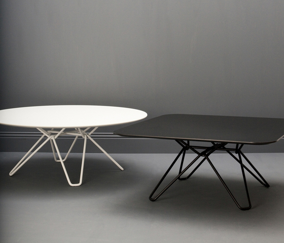 Tio Circular Café Table Laminate by Massproductions