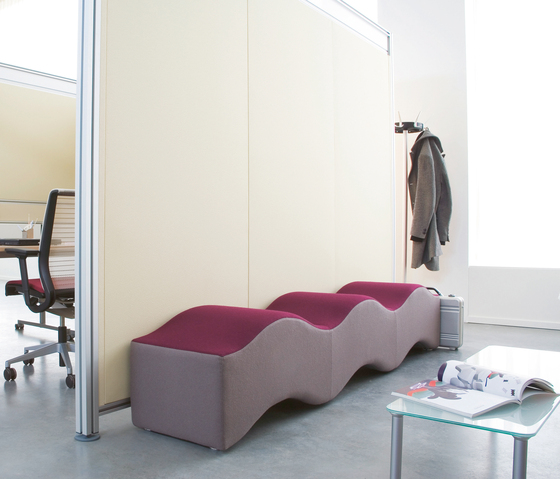 Ripple wave modulare sitzelemente von steelcase architonic for Case modulari strette