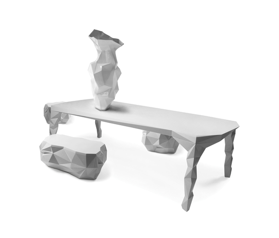 Arctic Rock dining table by JSPR