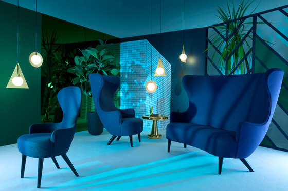 Wingback Sofa Copper Leg Hallingdal 65 de Tom Dixon