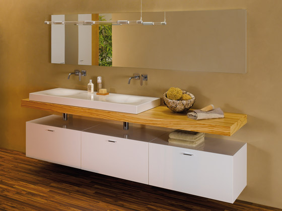 BetteBowl Washbasin with recess left di Bette