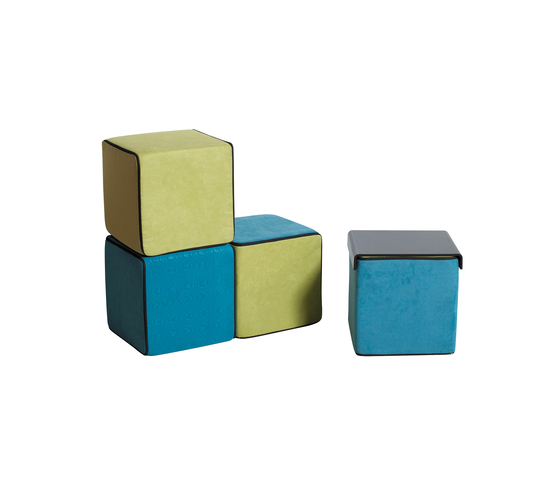 Click Upholstered cube di die Collection