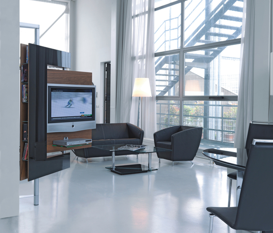 two vision die collection media rack producto. Black Bedroom Furniture Sets. Home Design Ideas