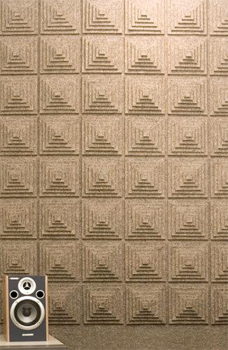 Felt wall covering by FELT Studio