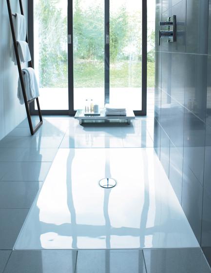 Flush fitting showertrays by DURAVIT