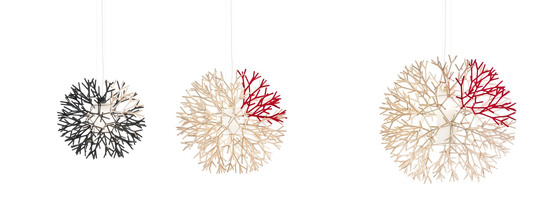 Coral vertical pendant by Pallucco