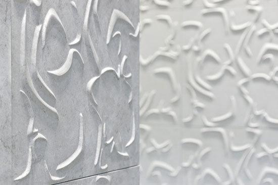 Curve 3D wall tile di Lithea  Curve Rosso Ducale 60x60 cm
