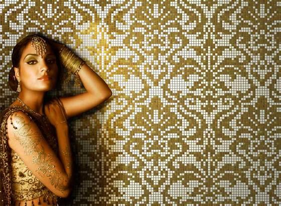 Oriental Dreams gold von ONIX Cerámica