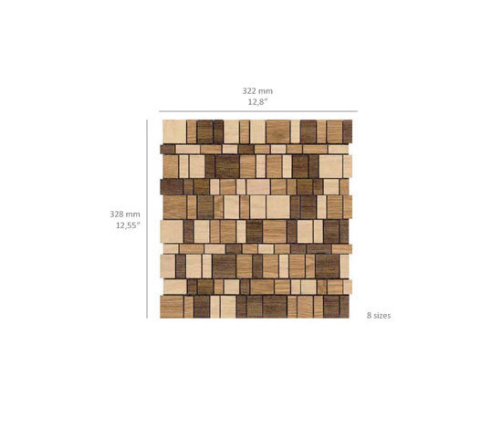 Mini Brick - Woodmix di Kuups Design International