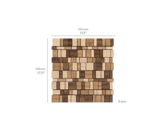 Mini Brick - Woodmix by Kuups Design International