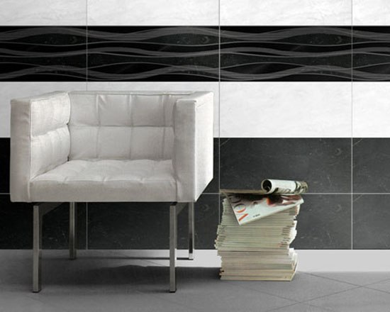 Luxury Broccato Bianco Dec 30,5x72,5cm* by Ceramica Magica