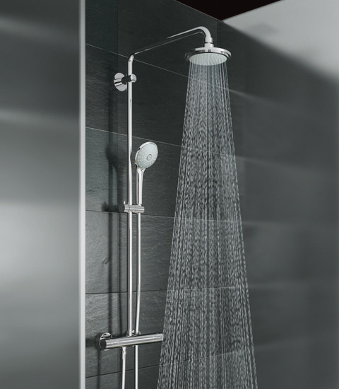 grohe shower systems by grohe shower system for wall. Black Bedroom Furniture Sets. Home Design Ideas
