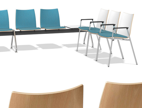 Onyx Beam Seating 3430/99 by Casala