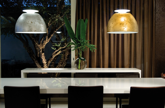 Bossa Gold pendant light by Lumini