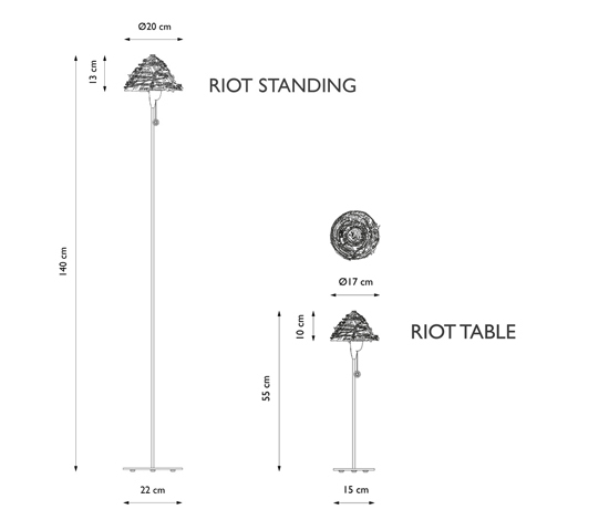 Riot Table light de Freedom Of Creation