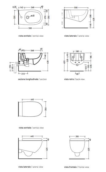 Spin wc   bidet by Ceramica Flaminia