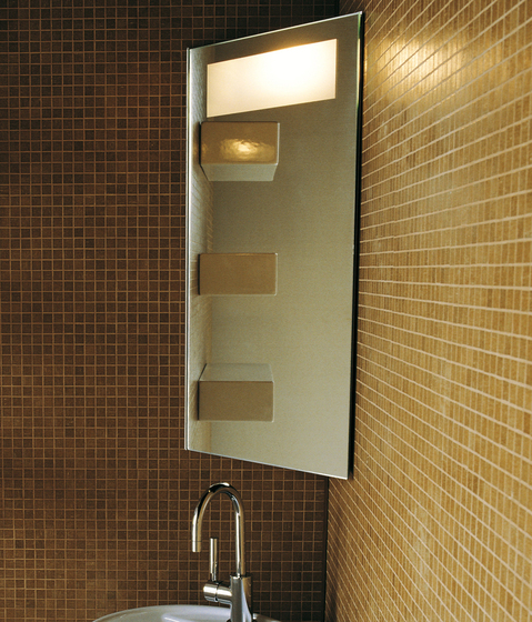 Corner mirror by Ceramica Flaminia