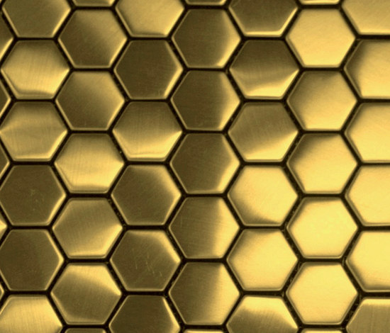 Hexa Gold Metal Mosaics From The Inox In Color 174 Architonic