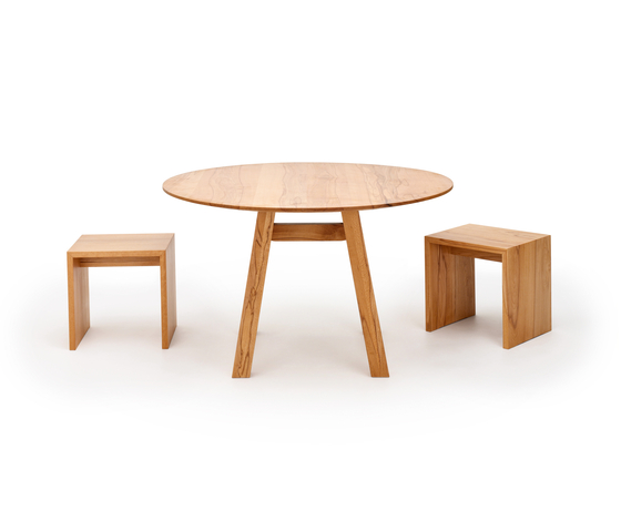 SLIGHT table | bench by Holzmanufaktur