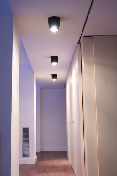 Boogie Extension 15 LED Ceiling lamp grey by Luz Difusión