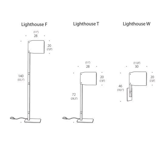 Lighthouse T Table lamp by Luz Difusión