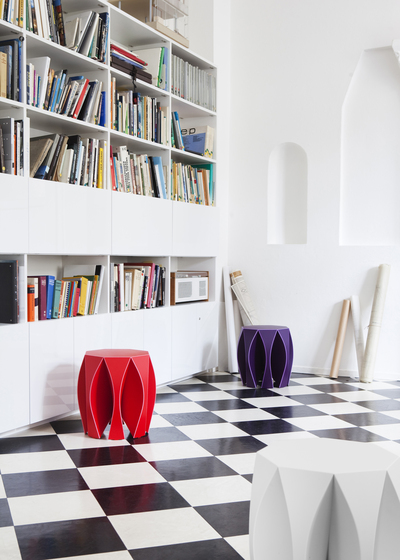 NOOK stool white di VIAL