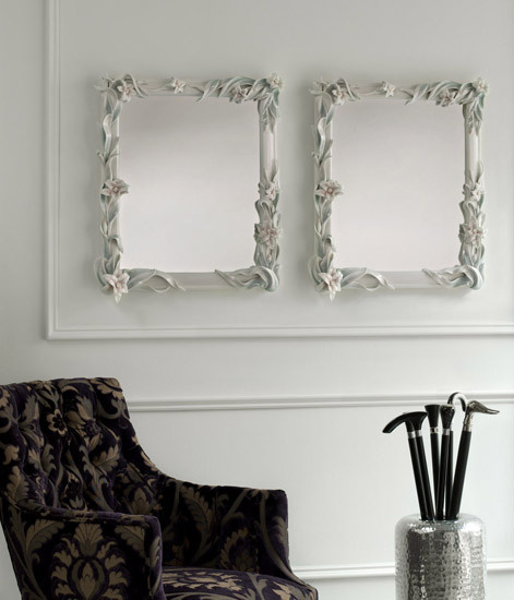 Mirror with Lilies (white) by Lladró