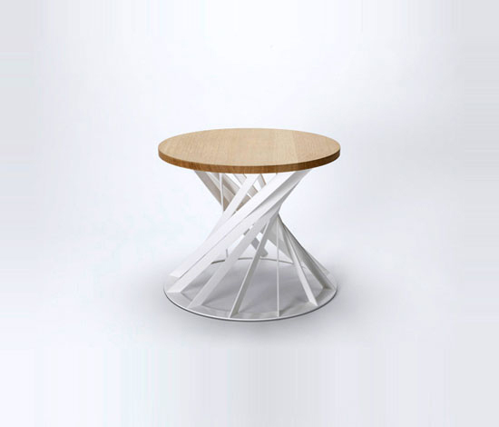 Twist table von Interni Edition