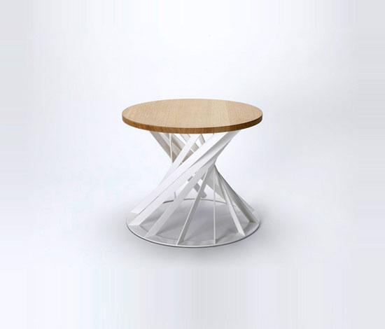 Twist table by Interni Edition
