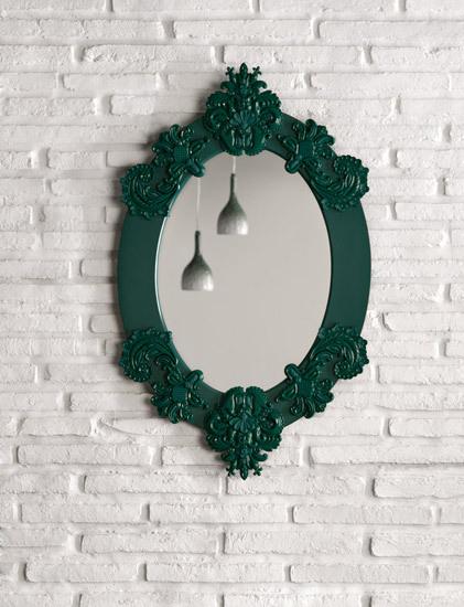 Espejo oval (verde) de Lladró