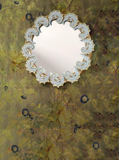 Espejo espirales (blanco/oro) de Lladró