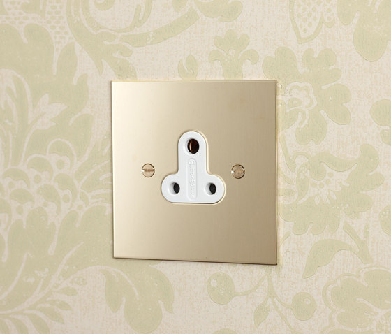 Unlacquered Brass double 13amp and 5amp socket di Forbes & Lomax