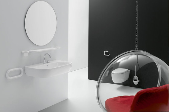 Plate glass mirror by HEWI