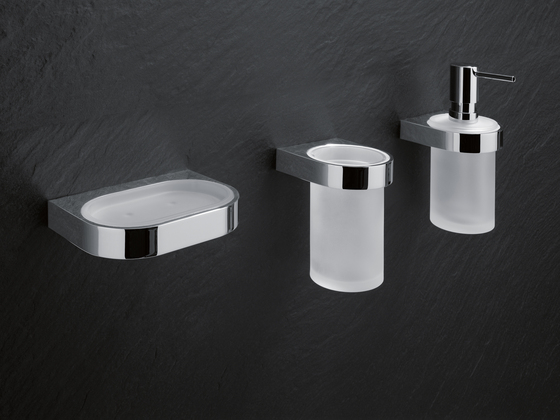 Soap dispenser with holder di HEWI