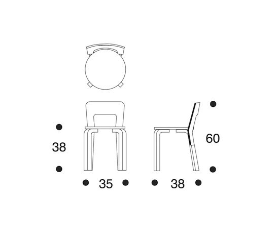 Children's Chair N65 | Moomintroll von Artek