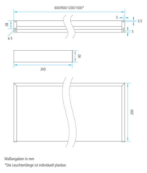 Lighting system 6 Light shelf 300 de GERA