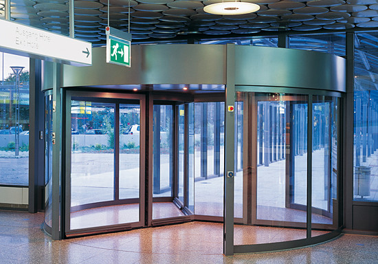 SST Sliding hinged safety doors by dormakaba