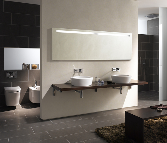 Options Washbasin unit for counter board by VitrA Bad