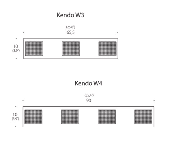 Kendo W2 Wall lamp by Luz Difusión