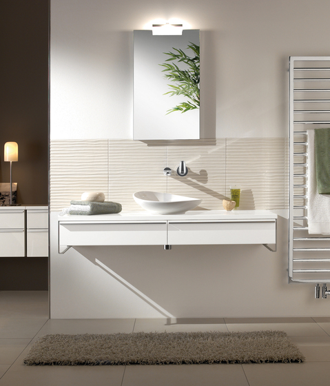 Shape Vanity unit for undercounter washbasin by Villeroy & Boch