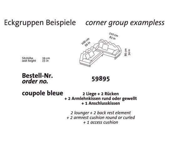 coupole bleue Hocker von Brühl