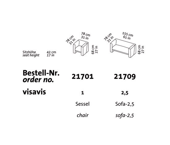 visavis Stool by Brühl