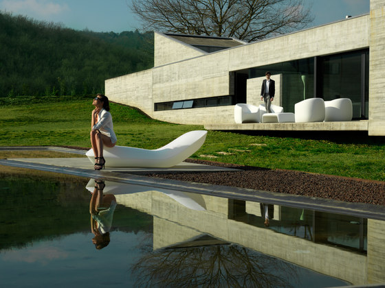 Pillow sun chaise di Vondom