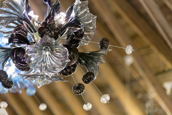 Kumulus 120 Chandelier blue by Bsweden
