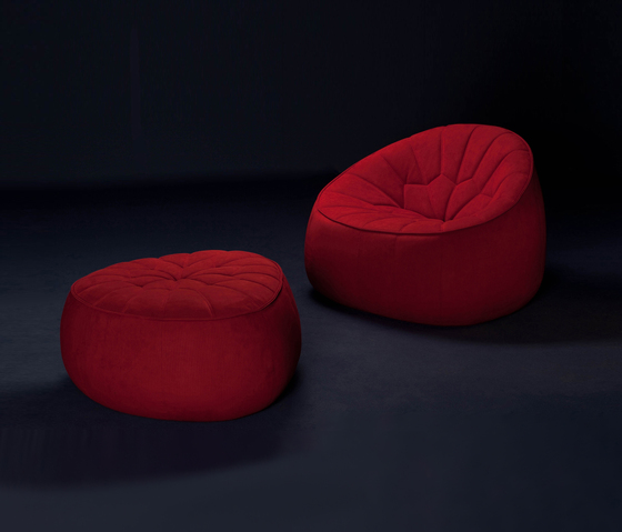 alcantara embossed for ottoman by no duchaufour lawrance. Black Bedroom Furniture Sets. Home Design Ideas