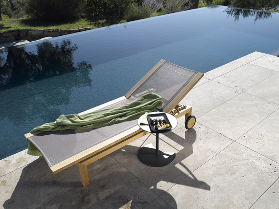 Kos Teak Adjustable Lounger by Tribù