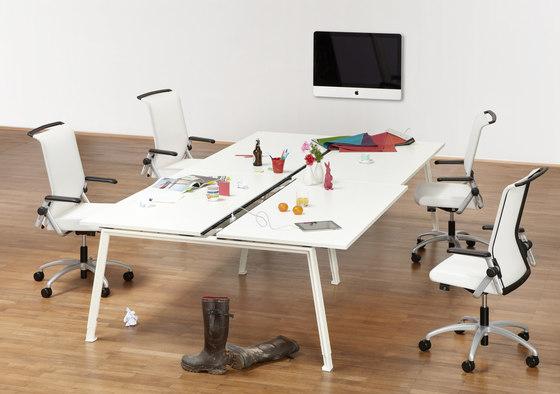 do it 4 desk individual desks by k nig neurath architonic. Black Bedroom Furniture Sets. Home Design Ideas