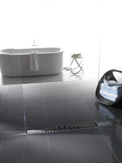 ACO ShowerDrain E-line gerade Glas, grau von ACO Haustechnik